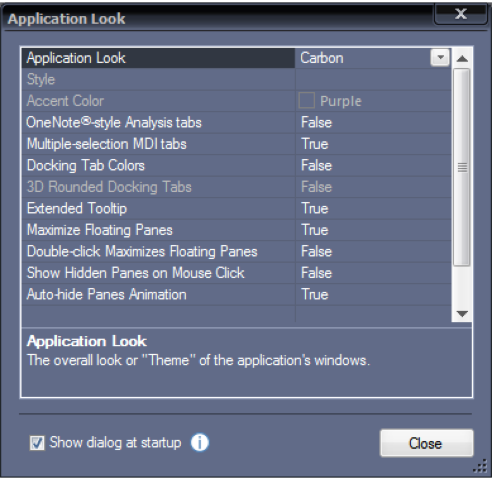 trading software screen application look